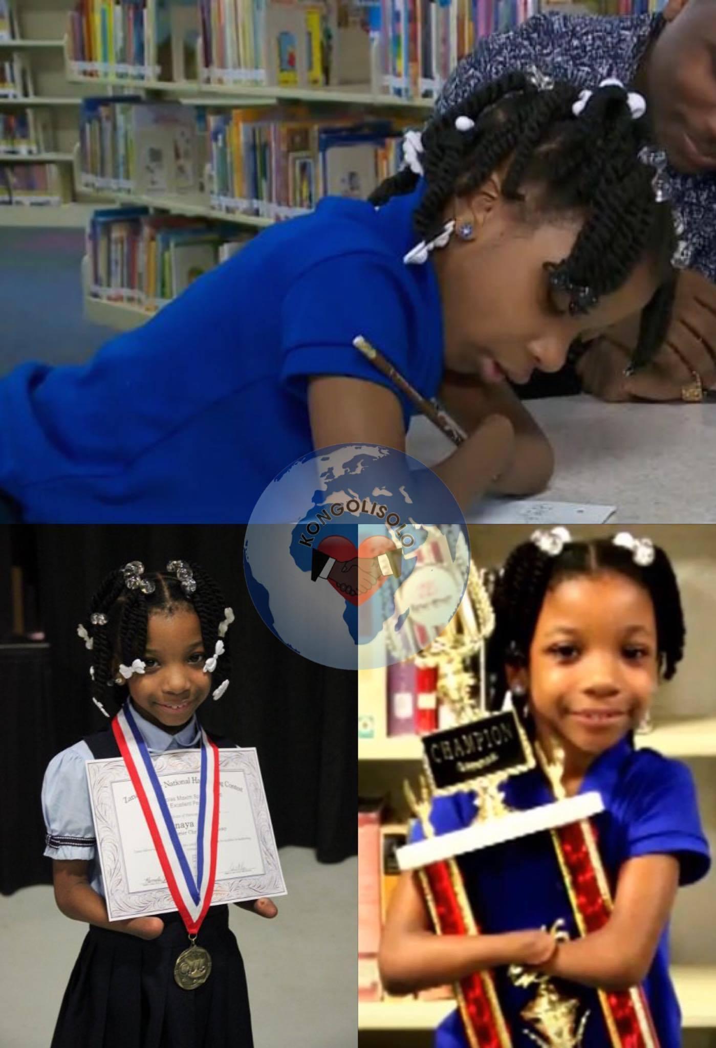 Née sans mains, une fillette de 7 ans remporte un concours d'écriture