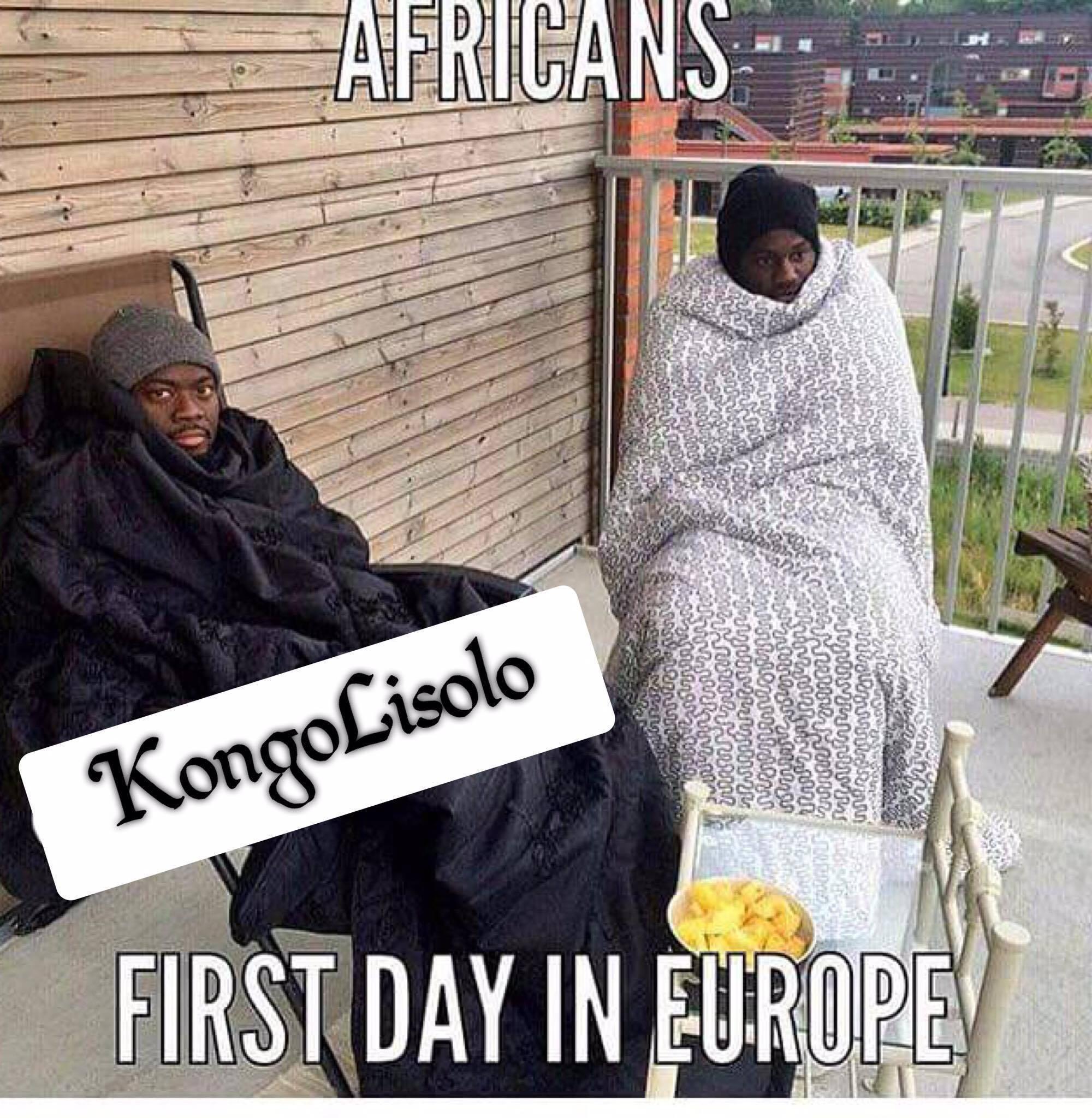 Africains Premier jour en Europe et L'occident vu par un Africain