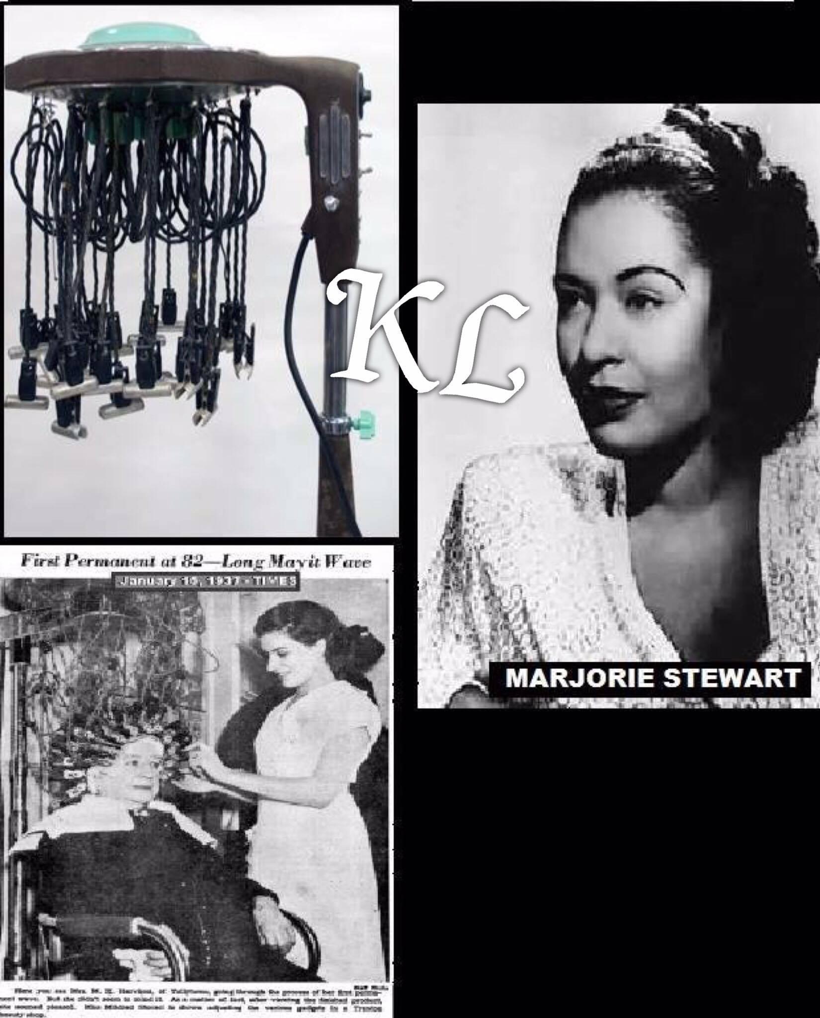 Marjorie Stewart Joyner (1896-1994) : afro - Américaine Inventrice de la permanente à cheveux wave machine