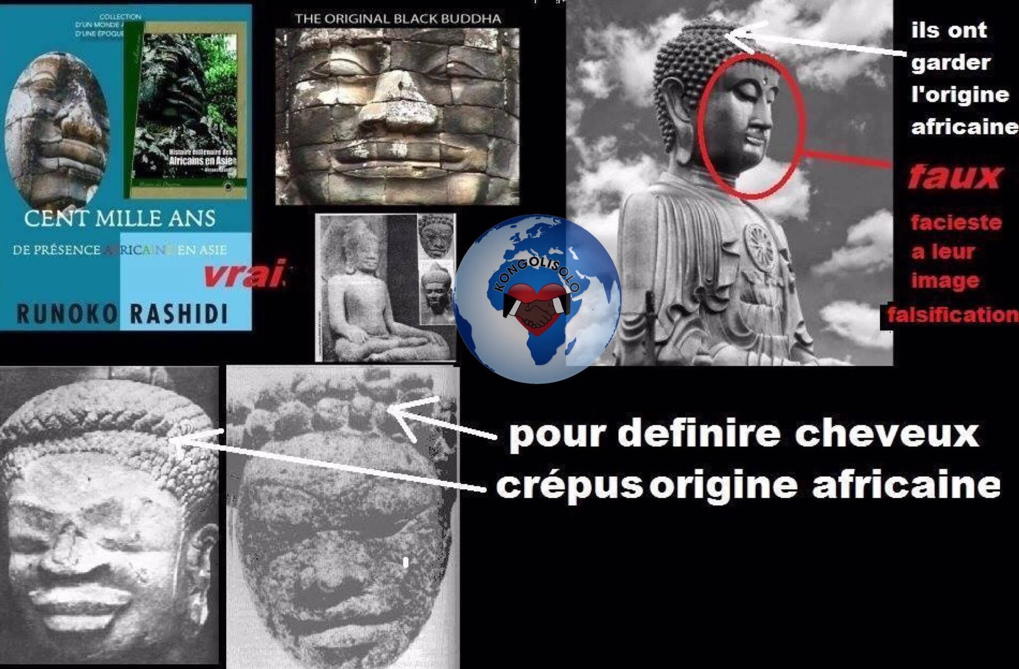 Bouddha l'Africain : la présence des Noirs en Asie et leur rôle fondateur dans l'émergence de quelques-unes des plus brillantes civilisations d'Asie (asiatiques) ont laissé des traces impérissables