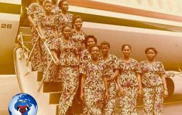 Les hôtesses de l'air de la Compagnie « Air Zaïre » du Zaïre, Aujourd'hui République démocratique du Congo