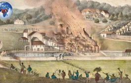 """""""क्रिसमस विद्रोह"""" या जमैका दासों का बड़ा विद्रोह: क्रिसमस के मौसम के दौरान एक्सएनयूएमएक्स में, सैमुअल शार्प, एक बैपटिस्ट उपदेशक, ने ब्रिटिश वेस्ट इंडीज में दासों के सबसे बड़े विद्रोह का नेतृत्व किया"""