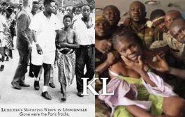 Pauline Opango Lumumba, la femme de Patrice Lumumba mise nue et humiliée dans les rues de Leopoldville après l'assassinat de son époux le 17 janvier 1961