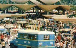 Congo-Kinshasa : historique du marché central de Kinshasa dans les années 70 ; le marché Central de Kinshasa/Gombe doit son existence à l'arrêté royal de 1943