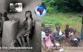 Question aux Africains : Chers frères et soeurs africains, en regardant cette photo à gauche avant l'indépendance (vers les années 1916) et à droite, après l'indépendance (années 2016) pensez-vous que l'Afrique a progressé (évolué) ou bien régressée ?
