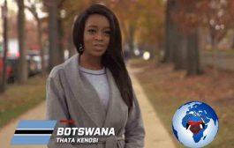 Bote nan Botswana: Thata Kenosi Miss Botswana Mondyal 2016 (Laj: 21 ane, Size: 1m78)