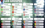 Les cinq équipes africaines qualifiées pour la Coupe du monde 2018 Egypte, Maroc, Nigeria, Sénégal et Tunisie sont fixés