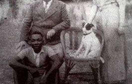 """Mid ka mid ah sawirada naxdinta leh: halkan waa mid ka mid ah sawirada naxdinta leh ee sawirada Mr. Blaise Paraiso ee Libreville ee 1930 oo lagu magacaabo """"Ha qarin jiilka cusub"""""""