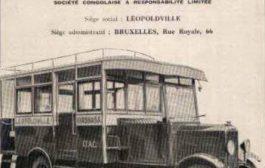 Congo : Léopoldville 1928 - première transport public dans les rues ... Document de la part d'illustrer la société industries et transports automobiles Au Congo (ACTI), qui a opéré le premier système de bus dans la capitale en février 1928