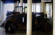L'épave de la première voiture ayant roulé sur le sol congolais il y a plus d'un siècle « exposé à BOMA »