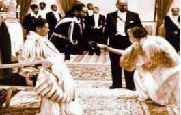 """Boqorada Elizabeth II iyo Boqor George oo saldhig u ahaa Suldaankii Sulaymaan - Gurigii Daa'uud """"Boqortimadiisa"""" Boqortooyada Haile Selassie I"""