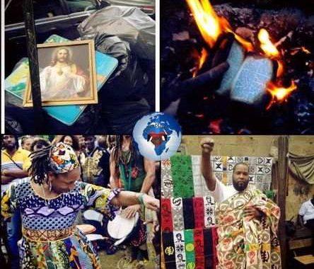Brûler la Bible, l'instrument de l'esclavage religieux : Tout peuple qui tourne le dos à ses traditions ancestrales pour se tourner vers des traditions étrangères, suffoque à la manière d'un homme à l'étroit dans un tunnel, privé des pensées, de parole et d'actions ... (VIDÉO)