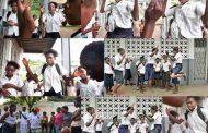 Nzango Na Kedé Nani Abeta : Nzango, jeux à sauter en l'air et claquent des mains, dans les écoles, les enfants jouent et partagent de génération en génération des jeux qui s'apparentent à des danses