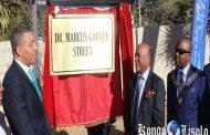La Namibie renomme la rue après l'icône jamaïcaine (le leader panafricain), « Marcus Garvey » : La ville de Windhoek a rebaptisé Babs Street dans le quartier résidentiel de Ludwigsdorf après l'emblématique activiste Jamaïcain « Marcus Garvey »