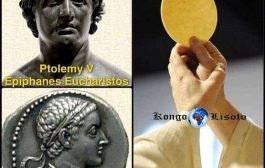 L'Eucharistie « l'histoire top secrète »: Après l'invasion grecque en 332 avant J.C, Ptolémée 1er Sôter, un des généraux d'Alexandre de Macédoine s'autoproclame roi d'Égypte, et oblige le clergé de Menefer à créer un Dieu son image