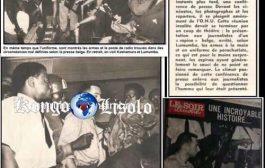 Lumumba présente un espion belge à la presse: Dans sa livraison n° 1473 du 15 septembre 1960, le soir illustré raconte une histoire incroyable selon ses propres termes