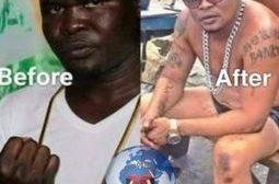 Cet ancien boxeur ghanéen déteste ses origines : quel massacre de la mélamine ? L'argent rend beau « Sauf dans ce cas précis » ou ça rend encore plus moche ... (VIDÉO)