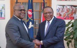 Le Kenya promet d'aider la RDC et le président Tshisekedi pour sa stabilité : le président kényan Uhuru Kenyatta a proposé mercredi 6 février son aide pour ramener la paix et la stabilité en République démocratique du Congo (RDC), au cours d'une visite de son nouveau président, Félix Tshisekedi