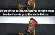 """Pou tout Afro-desandan: Chè Afriken-Ameriken yo, nou tout Afriken si ou aksepte li oswa ou pa """"Ou pa oblije ale nan Afrik yo dwe Afriken"""""""