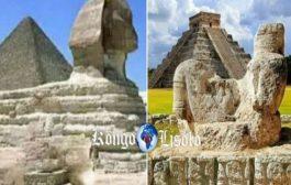 पूर्वी अफ्रीका में, आपके पास गीज़ा के प्रसिद्ध पिरामिड हैं और 10 000 वर्षों के बारे में है, सहारा अभी भी गीला था, फिर पूरी तरह से सूखा, 4 000 वर्षों के बारे में है: यह वही है जो सभी रहते थे चारों ओर इस अंतर्देशीय समुद्र को फैलाना था; शेख अन्ता दीप के अनुसार