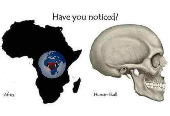 Les secrets profonds de l'humanité révélés par la carte de l'Afrique : beaucoup ont des yeux, mais sont incapables de bien voir, car ils ne peuvent pas voir au-delà de la pointe de leur nez, ils ne peuvent pas atteindre au-delà des apparitions; « L'Afrique parle d'elle-même, qu'elle est le berceau de l'humanité, le continent mère, le continent originel »